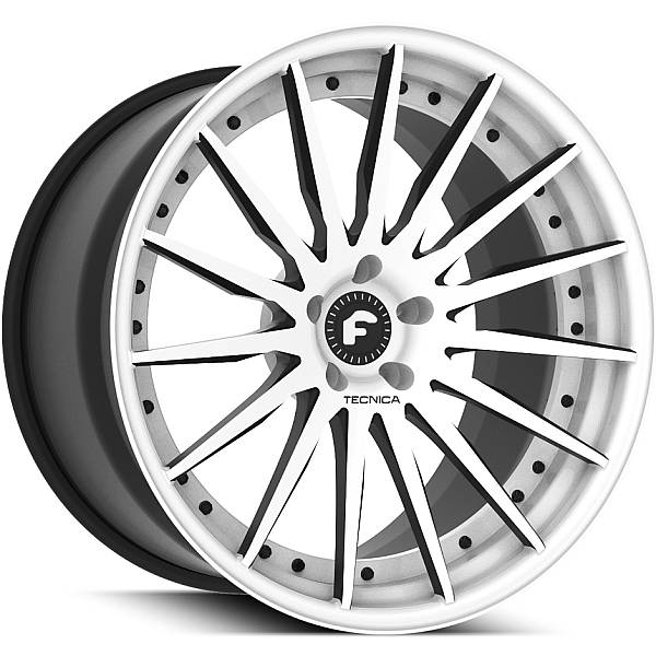 Forgiato Technica 2.3 White and Black Wheels