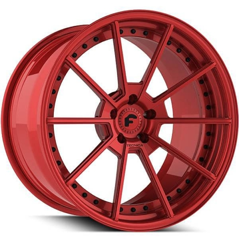 Forgiato Technica 2.4 Red Wheels