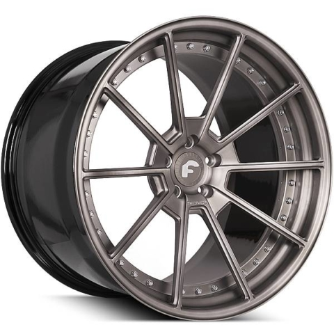 Forgiato Technica 2.4 Smoke Brushed Wheels