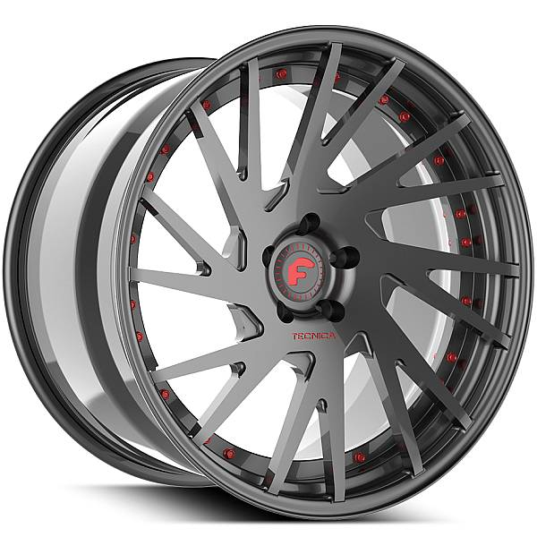 Forgiato Technica 2.5 Grey with Red Accents