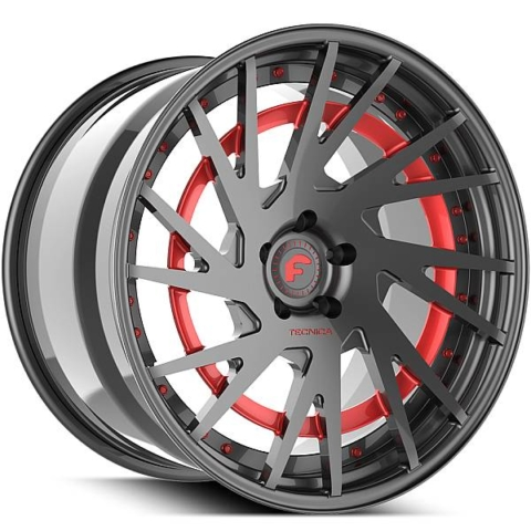 Forgiato Technica 2.5 R Grey with Red Accents