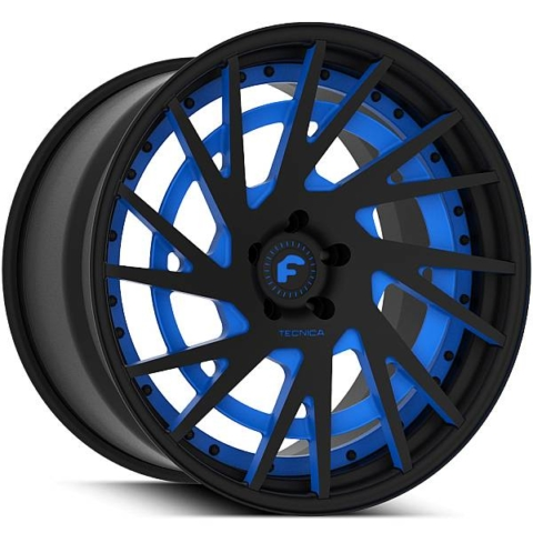 Forgiato Technica 2.5 Matte Black with Blue Accents