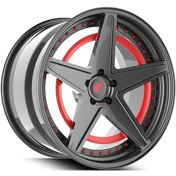 Forgiato Technica 2.6 R Grey with Red Accents