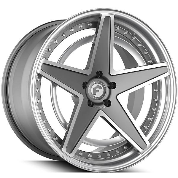 Forgiato Technica 2.6 R Grey and Silver Wheels