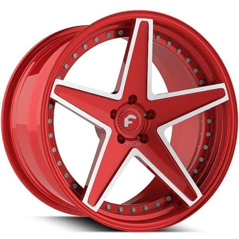 Forgiato Technica 2.6 R Red with White Accents