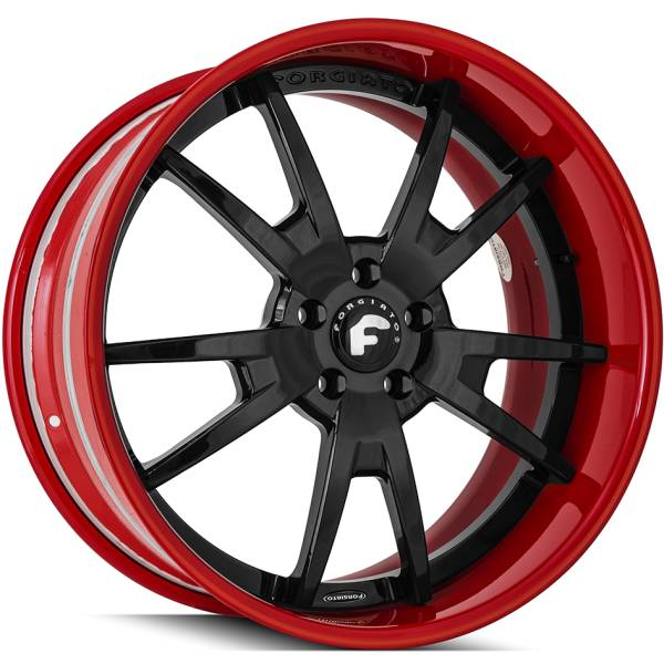 Forgiato F2.01 B Black and Red Wheels