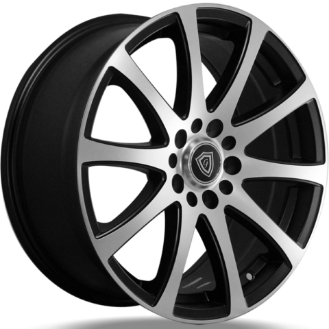 G-Line G0001 Satin Black Machined Wheels