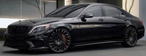 Lexani Wraith Gloss Black with Machine Tip Wheels for Mercedes