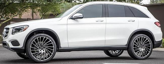 "22"" Lexani Wraith PVD Black Chrome On Mercedes GLC Class Mercedes"