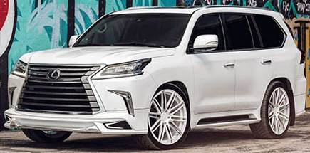 Lexus LX570 on AGL12 Luxury Vanquish Monoblock 2-Tone Wheels
