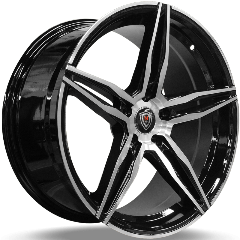 Marquee M.8888 Black Machined Wheels