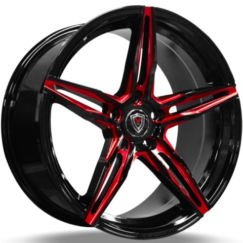 Marquee M.8888 Black with Red Milling