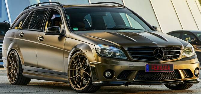 Bercedes C63 AMG Wagon on FR8 Matte Bronze Wheels