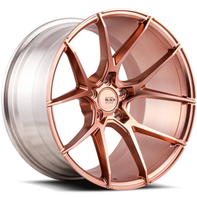 Savini Black Di Forza BM14 Matte Rose Gold Wheels