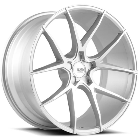 Savini Black Di Forza BM14 Brushed Silver Wheels