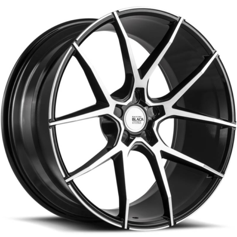 Savini Black Di Forza BM14 Black Machined Wheels