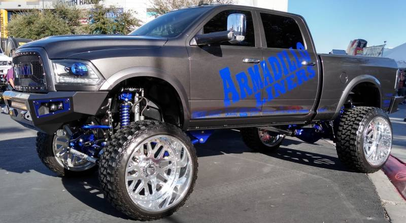 American Force Wheels on Armadillo Liners Truck