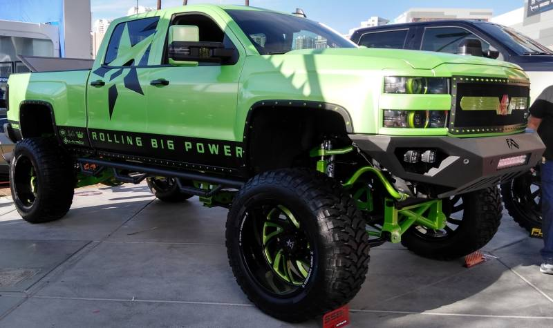 RBP 66R HK 5 Black with Custom Green Accents by Rolling Big Power Truck Wheels