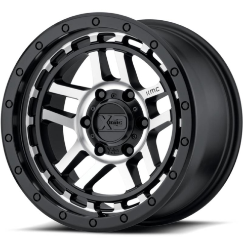 XD Series XD140 Recon Satin Black Machined Wheels