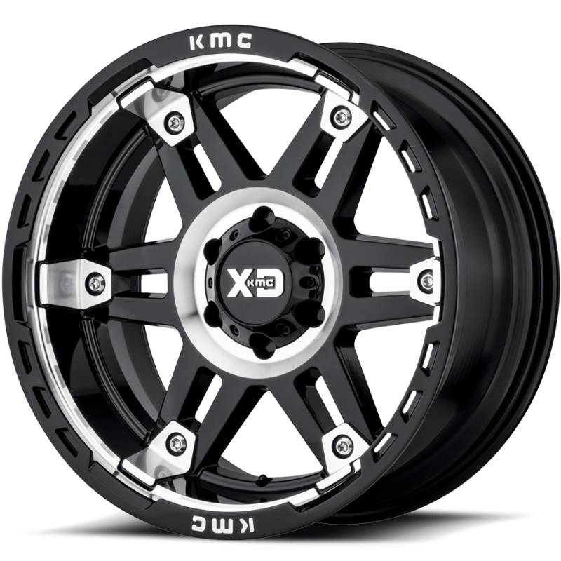 XD Series XD840 Spy II Gloss Black Machined Wheels
