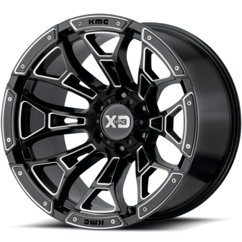 XD Series XD841 Boneyard Gloss Black Milled Wheels