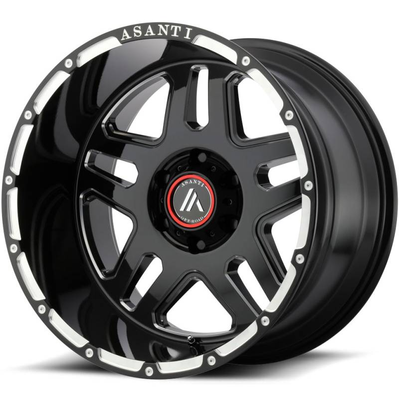 Asanti AB809 Gloss Black Milled Wheels
