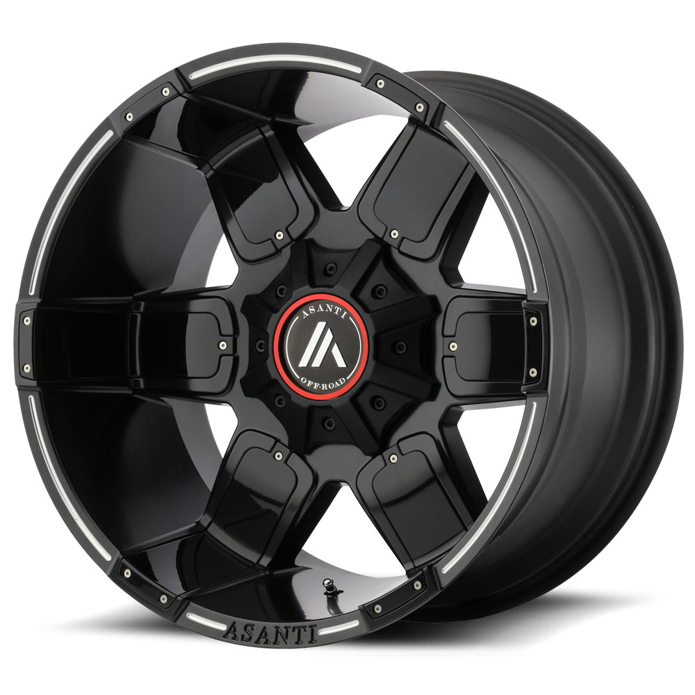 Asanti AB811 Satin Black Milled Wheels