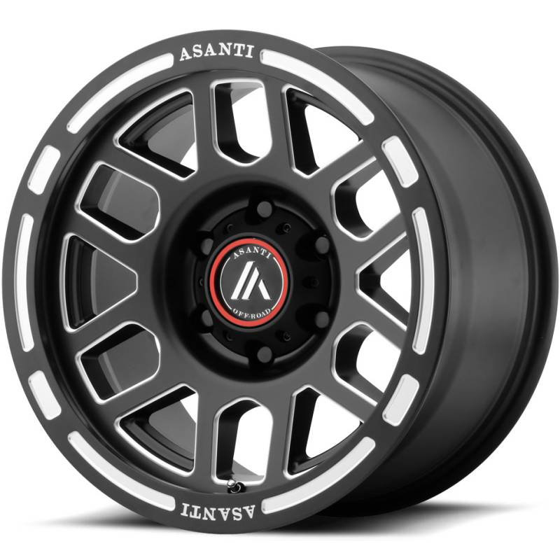 Asanti AB812 Satin Black Milled Wheels