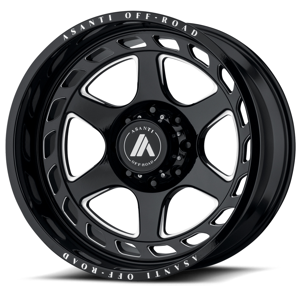 Asanti AB816 Gloss Black Milled Wheels