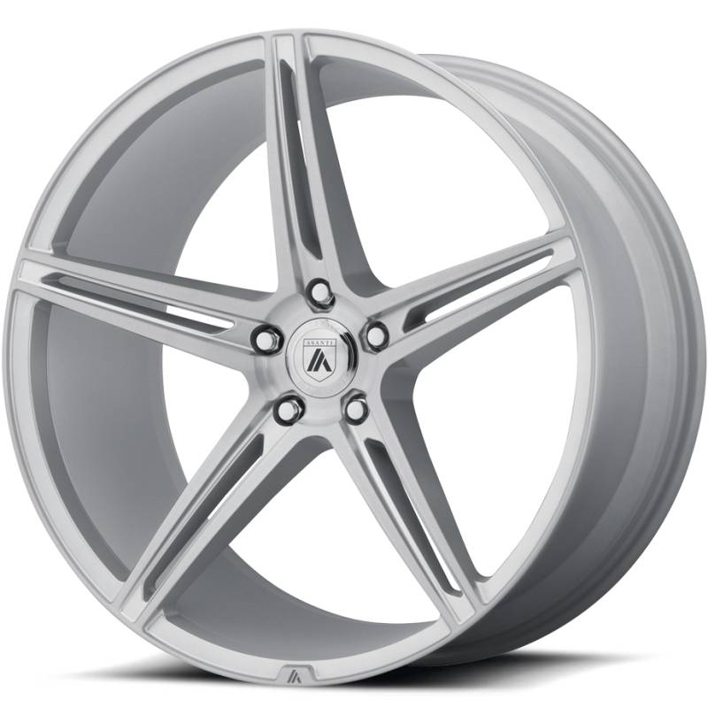 Asanti ABL-22 Brushed Silver Wheels