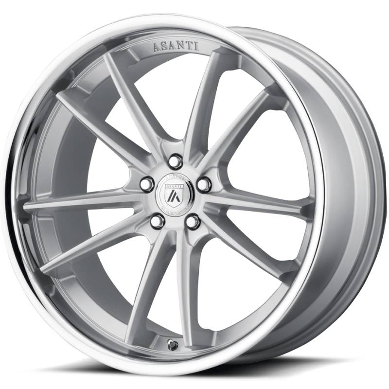 Asanti ABL-23 Brushed Silver Wheels