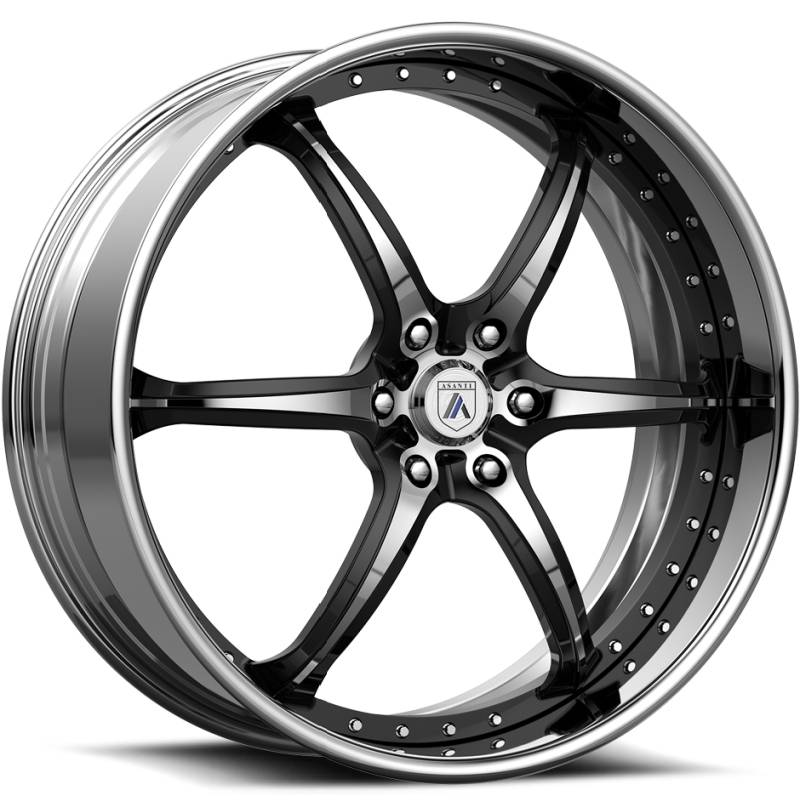 Asanti ELT879 Chrome & Black Center with Chrome Lip
