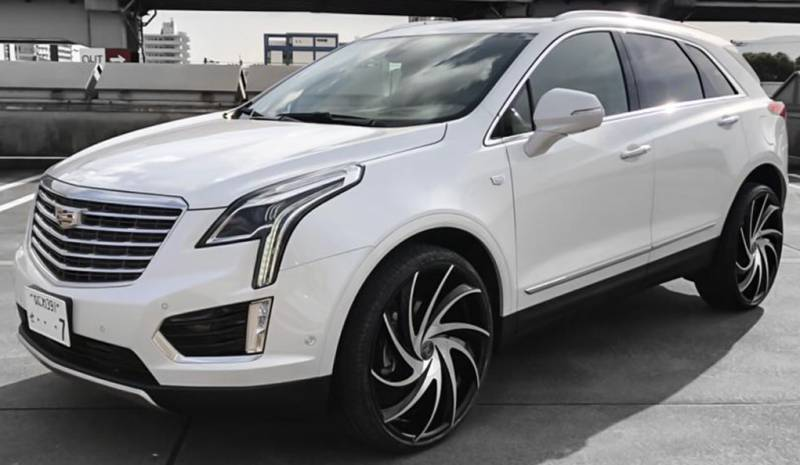 Cadillac XT5 on Lexani Twister Machine Black Wheels