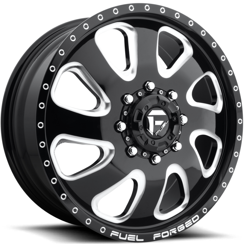 Fuel FF12D Black Milled Front Dually Wheel