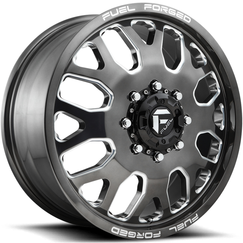 Fuel FF19D Candy Black Milled Front Dually Wheels