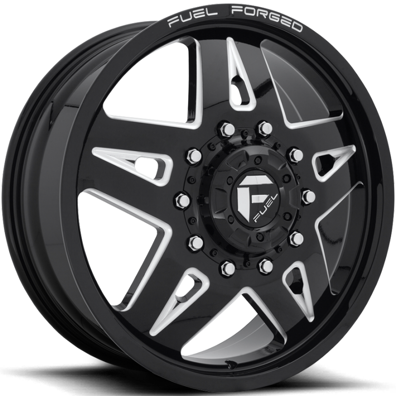 Fuel FF21D Gloss Black Milled Front Dually Wheel