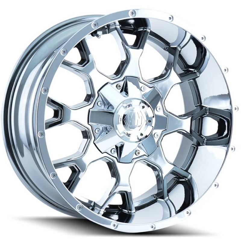 Mayhem 8015 Warrior Chrome Wheels
