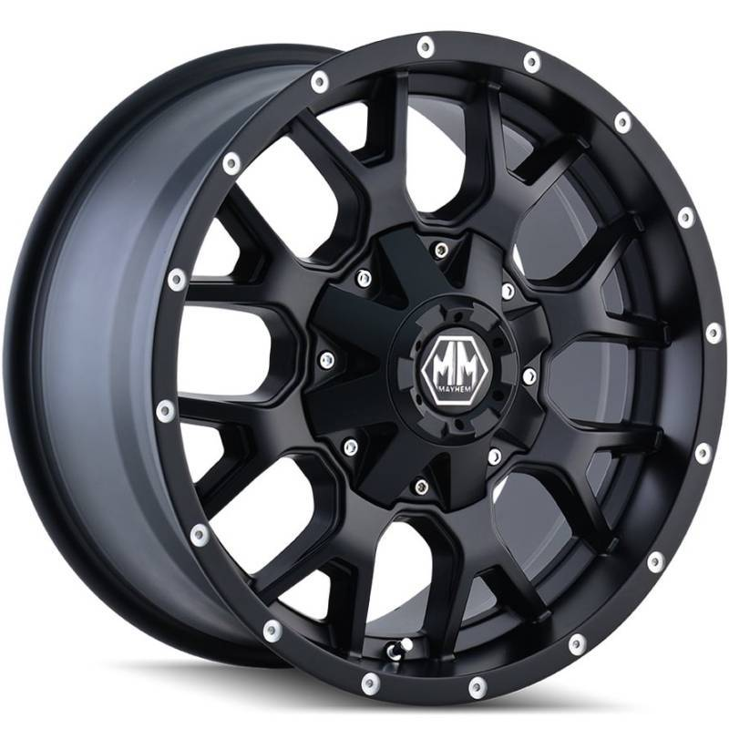 8015 Warrior Matte Black Wheels