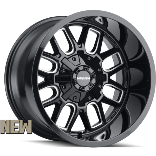 Mayhem 8107 Cogent Black Milled Wheels