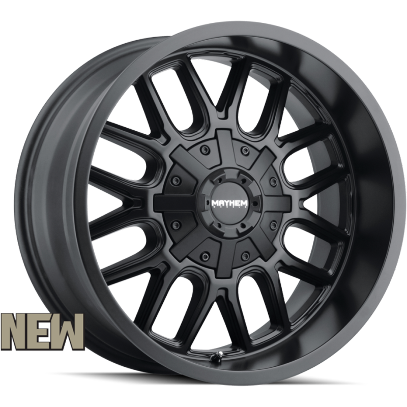 8107 Cogent Matte Black Wheels