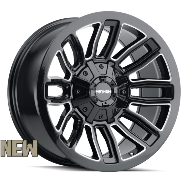 Mayhem 8108 Decoy Black Milled Wheels