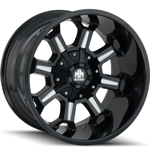8105 Combat Black Milled Wheels