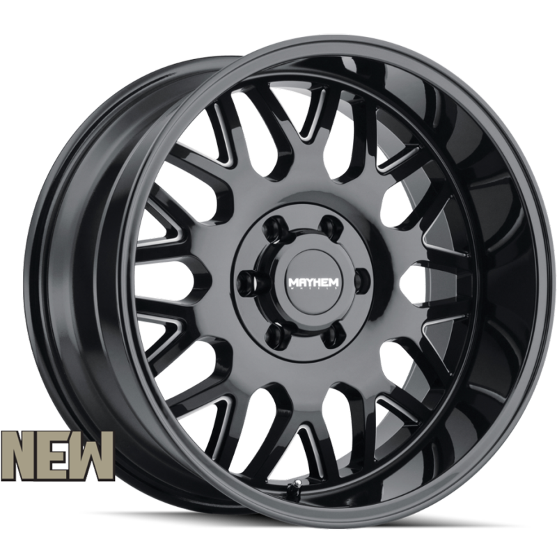Mayhem 8110 Tripwire Black Milled Wheels