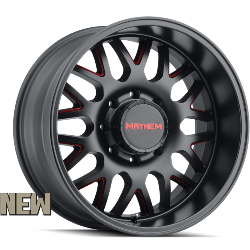 Mayhem 8110 Tripwire Black with Prism Red Accents 8-lug