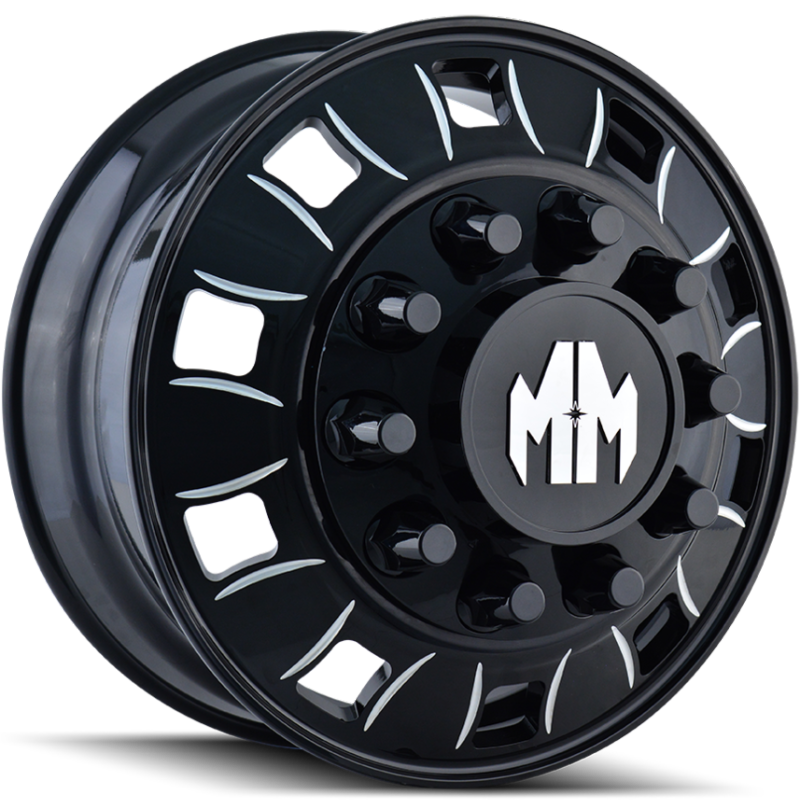 Mayhem 8180 Big Rig Black Milled Wheels