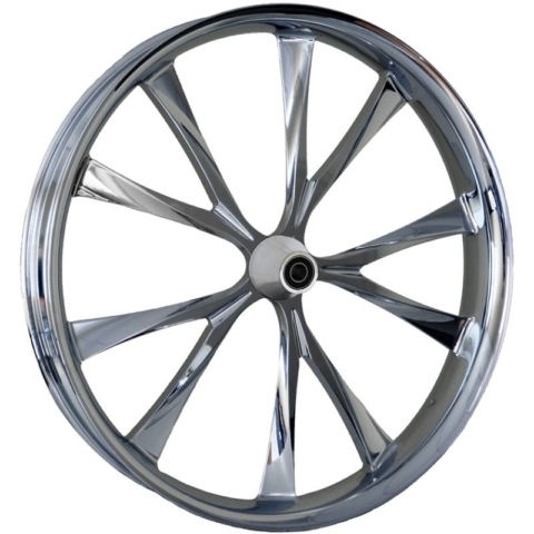 Metalsport Wheels 2D The Wedge Chrome Motorcycle Wheel
