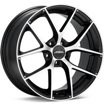 ASA GT14 Machine Black Wheels