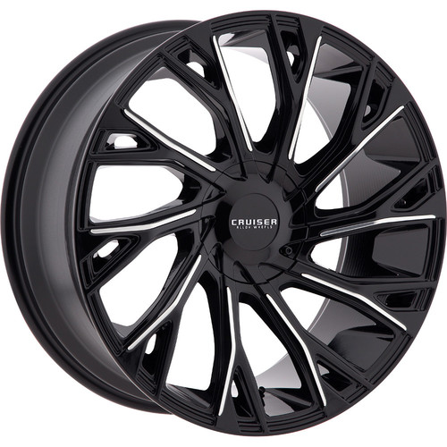 Cruiser Alloy 925MB Cutter Black Machined Wheels