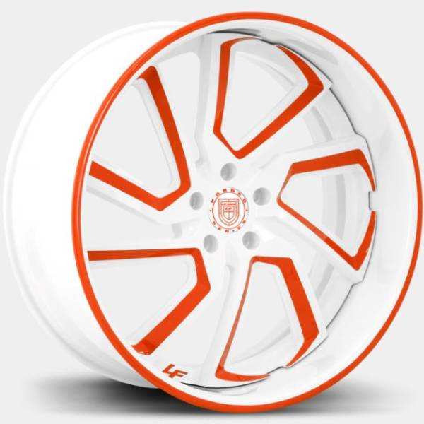 Lexani Forged LF-778 Styx White and Red Custom Wheels
