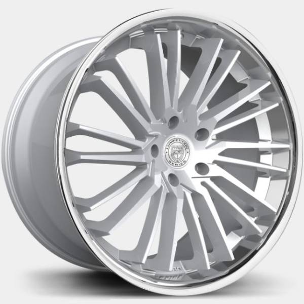 Lexani Virage Brushed Silver with Stainless Steel Lip